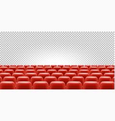 cinema or theatre seats in empty hall vector image