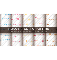 Classic seamless pattern - set five items vector