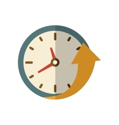 Clock and arrow icon Time design graphic vector image