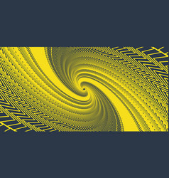 cool abstract swirl from broken corner lines in a vector image