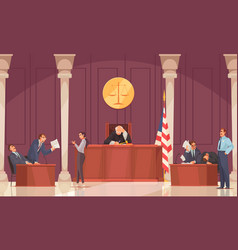 Court session law composition vector