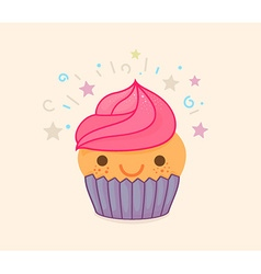 Cute Cupcake Cartoon vector image