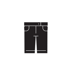 denim shorts black concept icon denim vector image