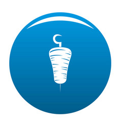 Doner kebab icon blue vector