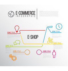 E-commerce infographic report template vector