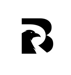 eagle and raven bird logo designs modern vector image