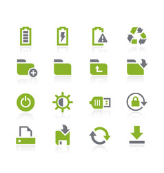 Energy and storage icons natura series vector