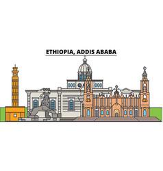 Ethiopia addis ababa city skyline architecture vector