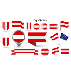 flag austria big set icons and symbols vector image