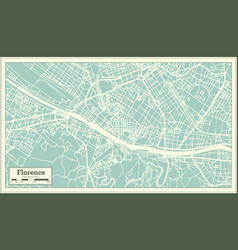 Florence italy city map in retro style outline map vector