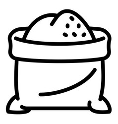 flour sack icon outline style vector image