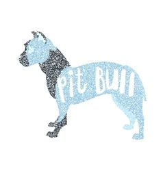 Form of round particles american pit bull terrier vector