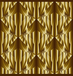 geometric abstract gold 3d seamless pattern vector image
