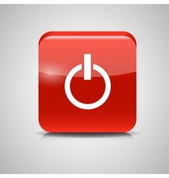 Glass Power Button Icon vector