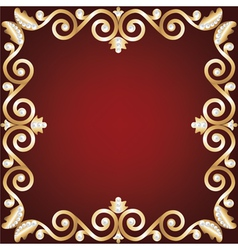 gold jewelry frame vector image