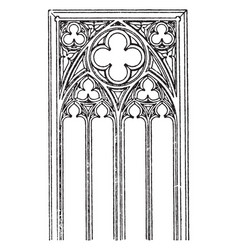 Gothic tracery cathedral arm chair design toscano vector