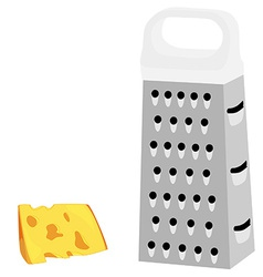 Grater with white handle vector image