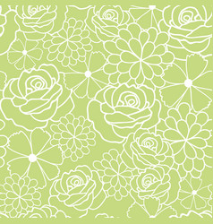 green flowers texture pattern vector image