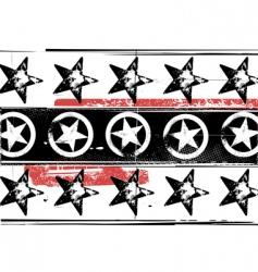 Grunge stars pattern vector