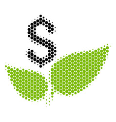Halftone dot eco startup icon vector