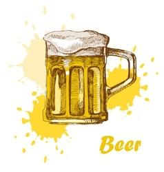hand draw beer vector image