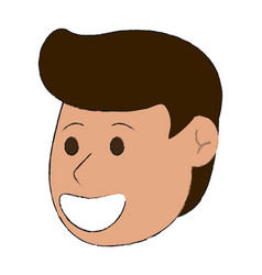 Happy man smiling cartoon icon image vector