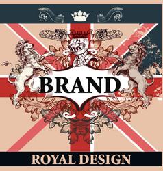 heraldic invitation in vintage style vector image