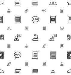 Information icons pattern seamless white vector