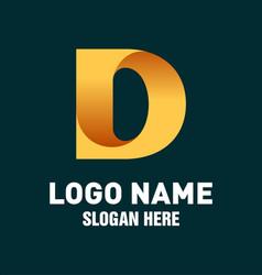initial d logo design vector image