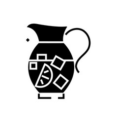 Lemonade pitcher - sangria - bewerage icon vector