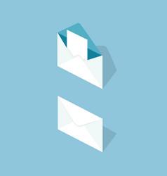 Letter in envelope isometric vector