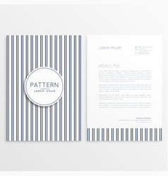 Letterhead template with verticle lines pattern vector