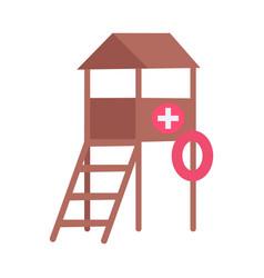 Lifeguard tower icon vector