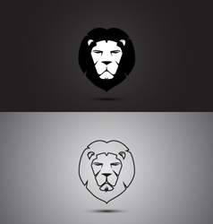Lion modern two tone and outline shape logo design vector image