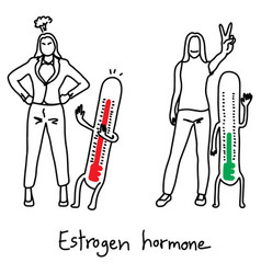 Metaphor estrogen hormone affects mood swings vector