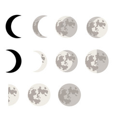 moon phases symbols vector image