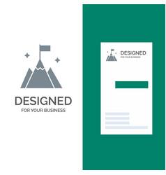Mountain flag user interface grey logo design and vector