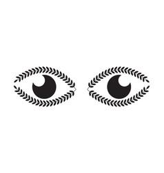 nature eye design vector image