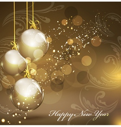 new years gold background vector image vector image