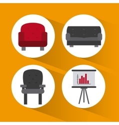 Office icons desgin vector