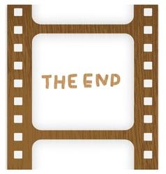 Old filmstrip Movie ending frame vector