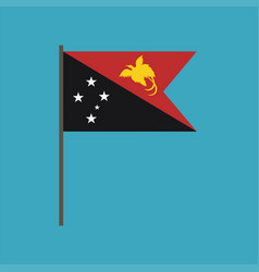 papua new guinea flag icon in flat design vector image