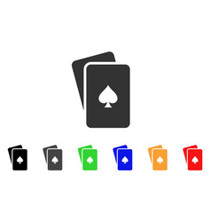 peaks playing cards icon vector image