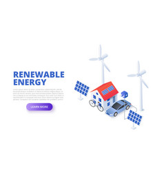 renewable energy concept with solar panel vector image