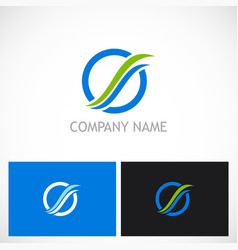 round loop eco technology logo vector image