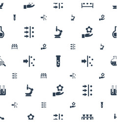 Scientific icons pattern seamless white background vector