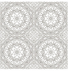 seamless mandala seamless floral ornament doodle vector image