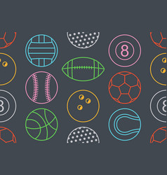 seamless pattern with collection of colorfuls spor vector image