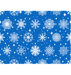 seamless pattern with snowflakes on the christmas vector image