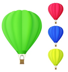 set of colorful Hot air balloon vector image